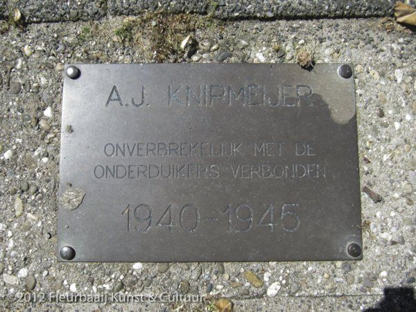 Gedenkplaatje A.J. Knipmeijer
