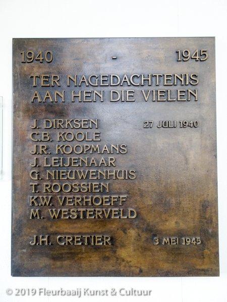 Herinneringsplaquette 1940 - 1945