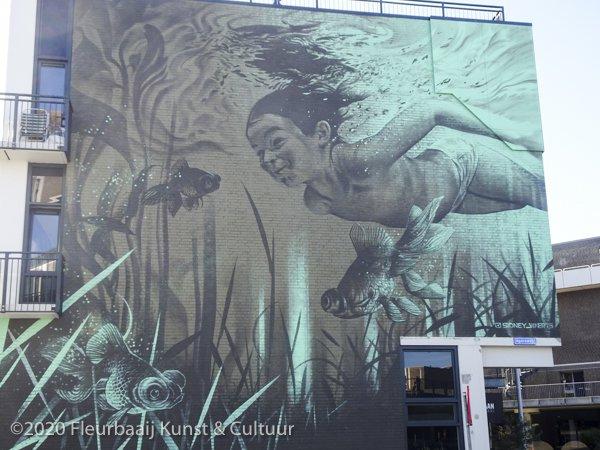 Muurschildering Agoraweg
