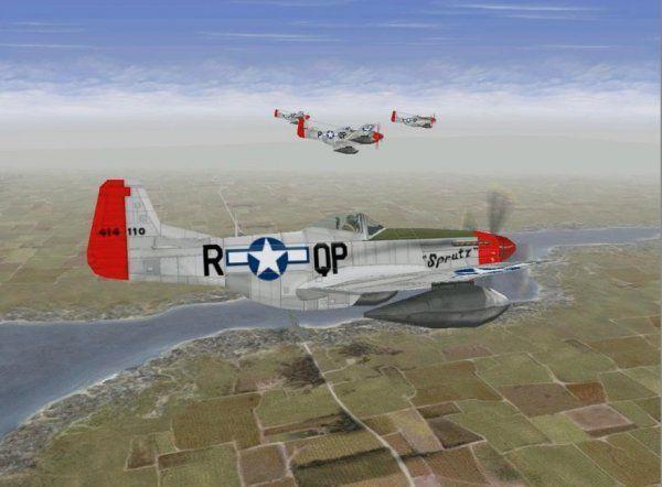 Vliegtuigcrash Mustangs P51-D